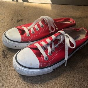 Converse Chuck Taylor Low Top Canvas red slip on